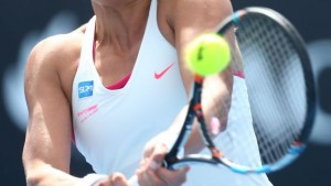 Yanina Wickmayer, soutenue par le groupe SDA et Philippe de Moerloose – Open d'Australie 2015.